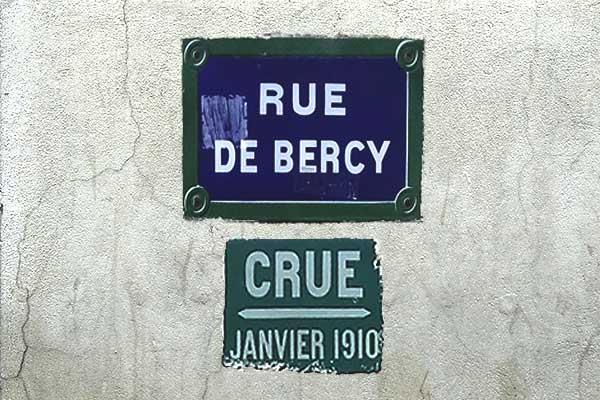 oversvømmelsesmærke paris bercy