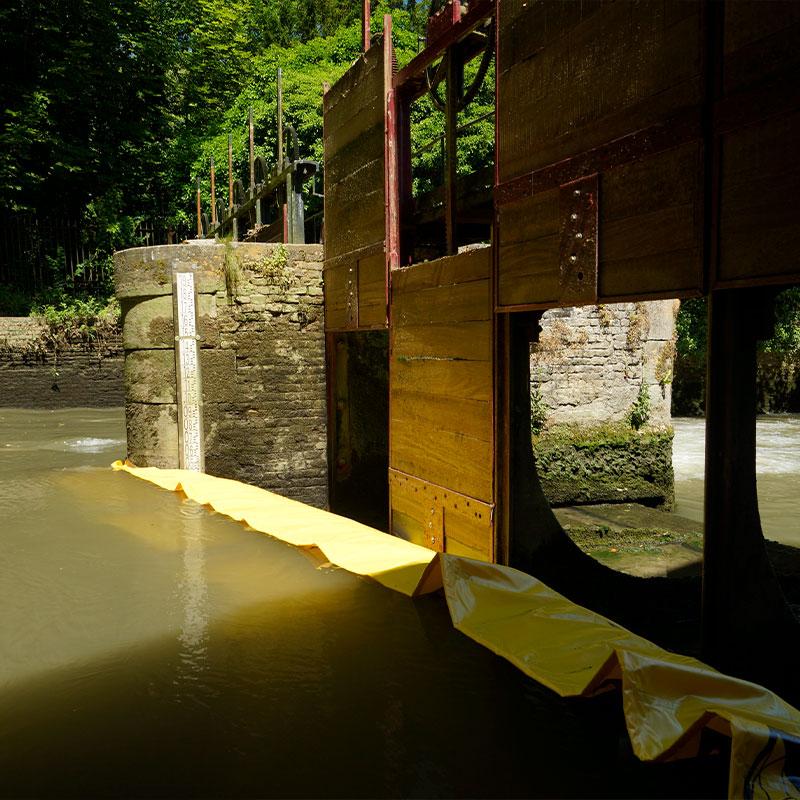 Restaurering af vindingen af Moulin de Pidou fra det 15. århundrede Rivière Aa - Fleksibel kuffert Water-Gate © WA-2850