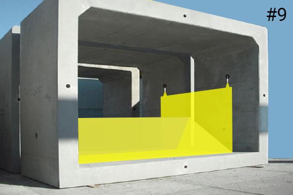 Fleksibel Water-Gate© kofferdamme. Diagram over en installation i betonrøret | Sag #9